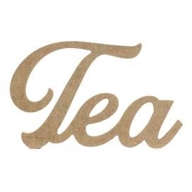 D63 Ahşap Tea Yazısı