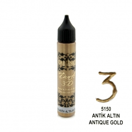 3D BONCUK BOYA-5150-ANTİK ALTIN