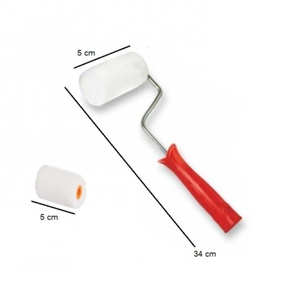 Rulo Sünger Fırça (5cm) Yedek Sünger Hediyeli