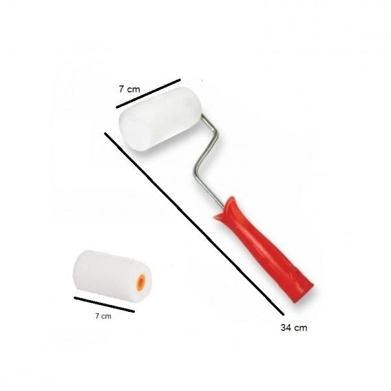 Rulo Sünger Fırça (7cm) Yedek Sünger Hediyeli