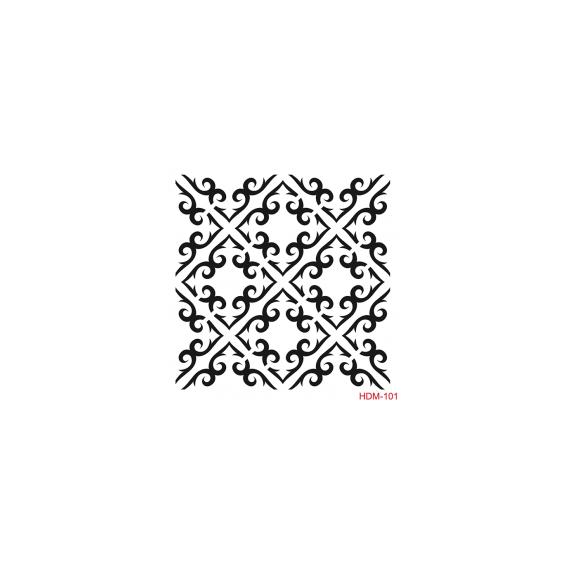 HOME DECOR MİDİ STENCİL 22*22 CM HDM-101