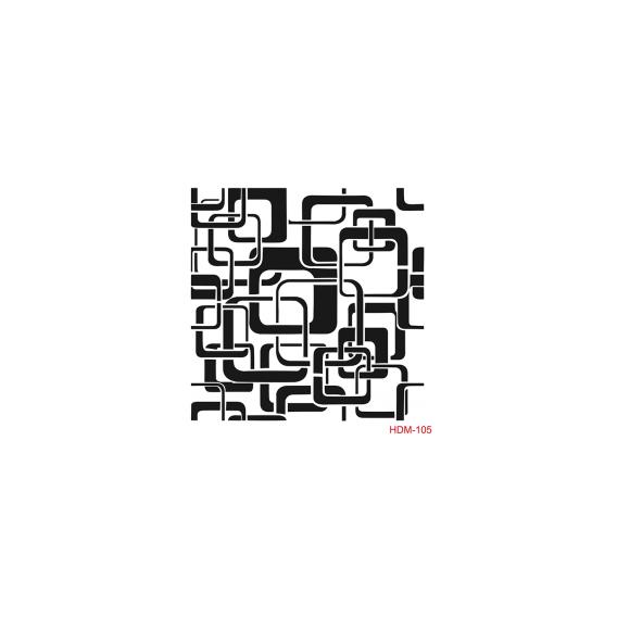 HOME DECOR MİDİ STENCİL 22*22 CM HDM-105