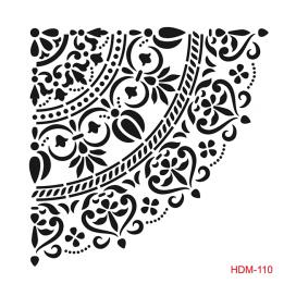 HOME DECOR MİDİ STENCİL 22*22 CM HDM-110