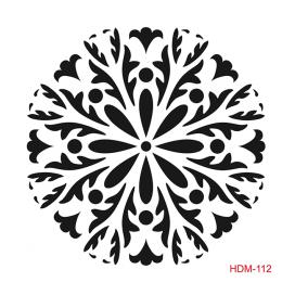 HOME DECOR MİDİ STENCİL 22*22 CM HDM-112
