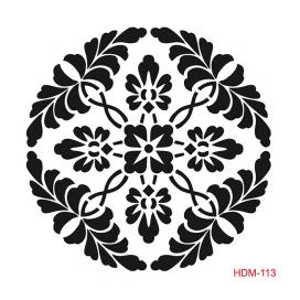 HOME DECOR MİDİ STENCİL 22*22 CM HDM-113