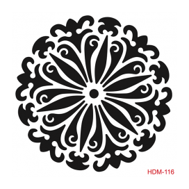 HOME DECOR MİDİ STENCİL 22*22 CM HDM-116