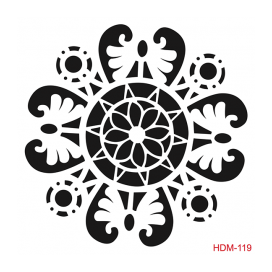 HOME DECOR MİDİ STENCİL 22*22 CM HDM-119