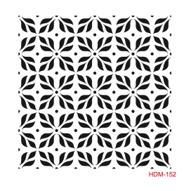 HOME DECOR MİDİ STENCİL 22*22 CM HDM-152