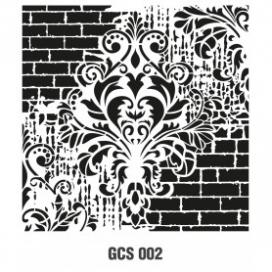 GRUNGE STENCIL 45*45 CM GCS 002