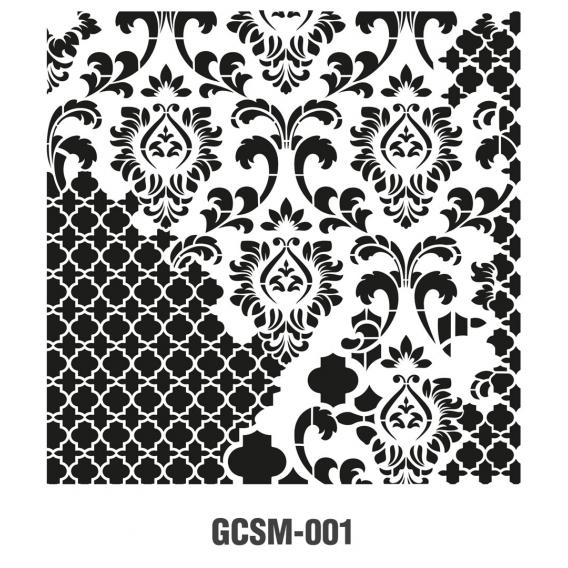 GRUNGE STENCIL MİNİ GCSM-001 25X25
