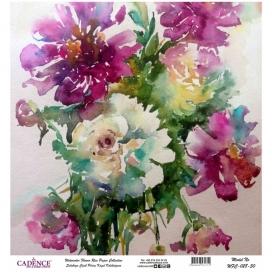Model WFC028 Sulu Boya Çiçek Pirinç Kağıt Koleksiyonu 90x92